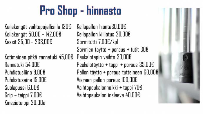proshop_hinnasto